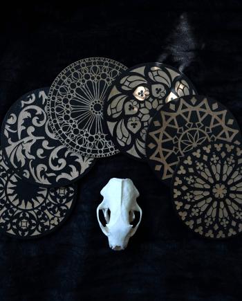 Gothic coaster set