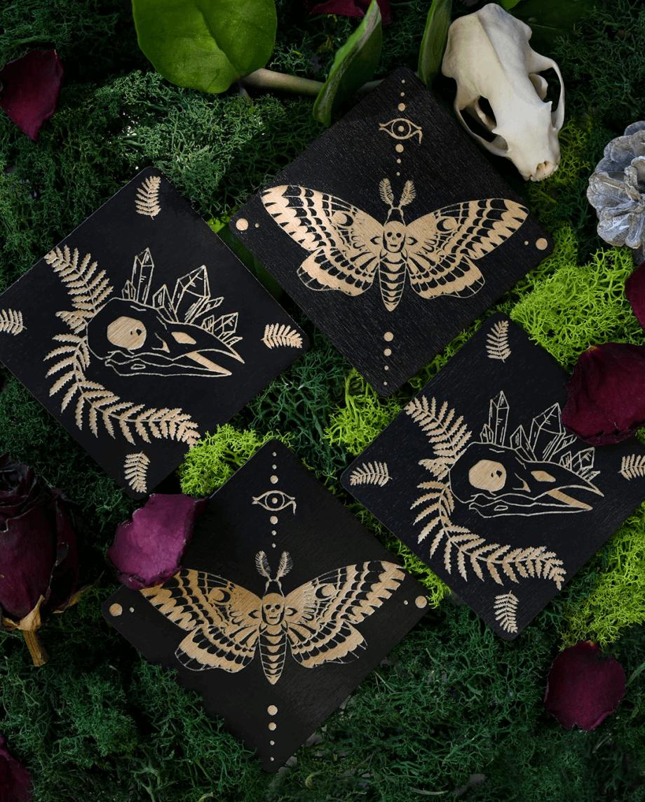 Romantic coaster set