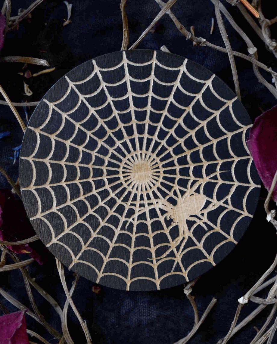 Spiderweb coaster